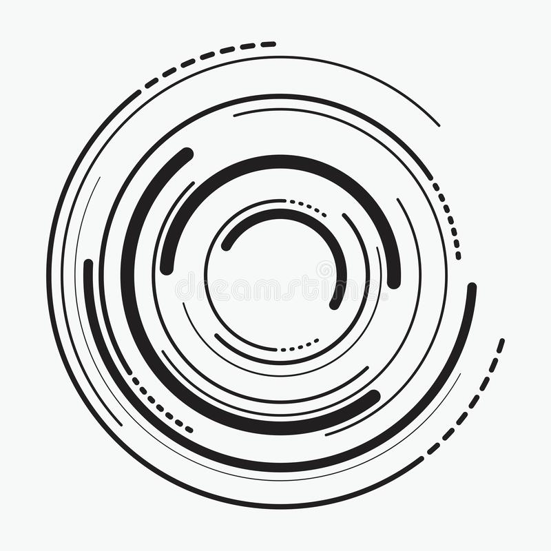 Vektorzusammenfassungs-Radialhintergrund von konzentrischen Kräuselungskreisen vektor abbildung