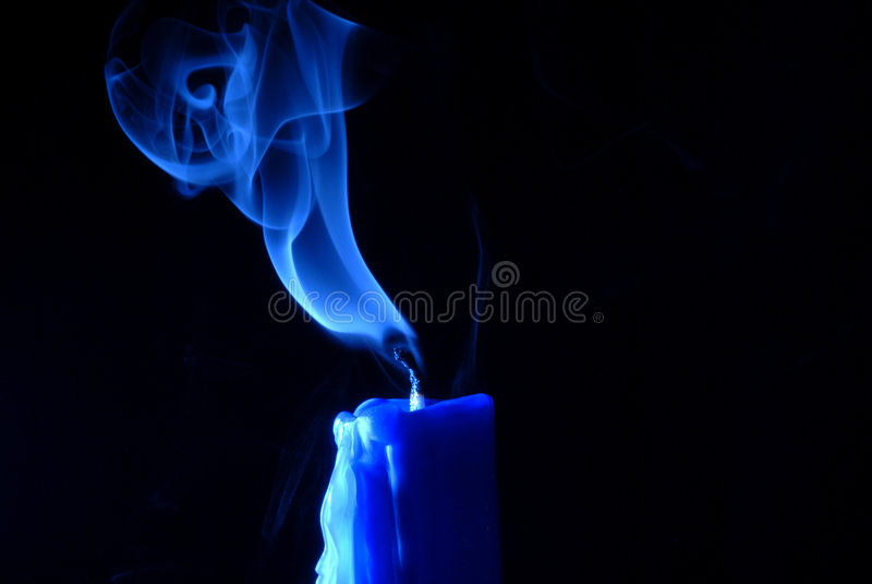 Vela azul fotografía de archivo