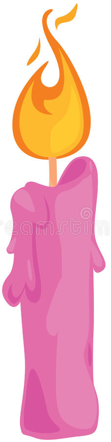 Vela cor-de-rosa ilustração royalty free