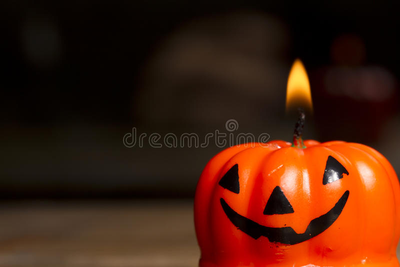 Vela de Halloween foto de stock royalty free