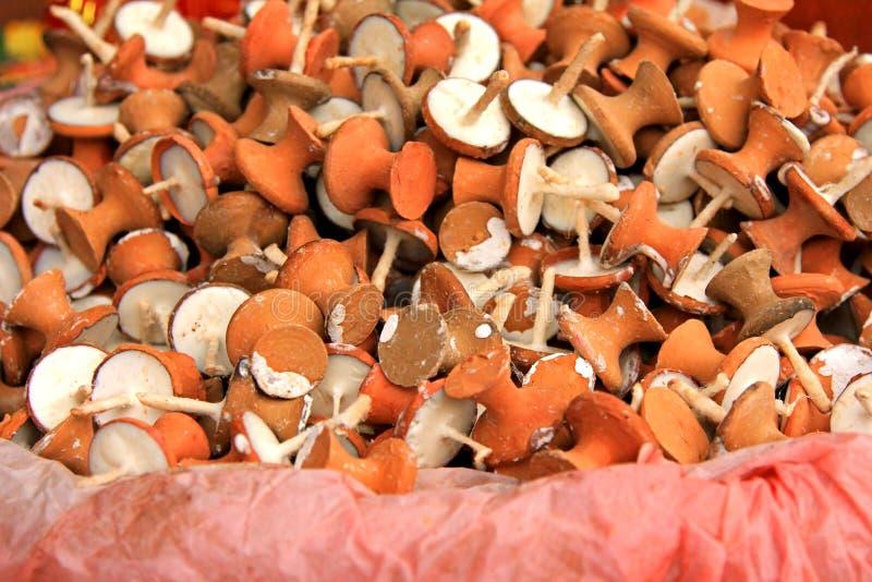 Vela de la mantequilla de yacs, lámpara de la mantequilla imágenes de archivo libres de regalías