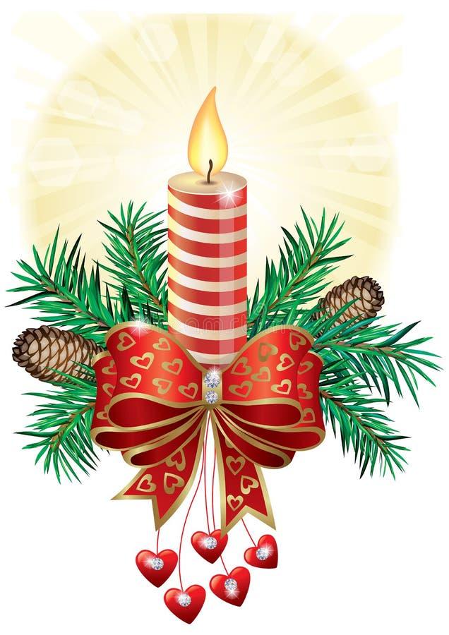 Vela de la Navidad stock de ilustración