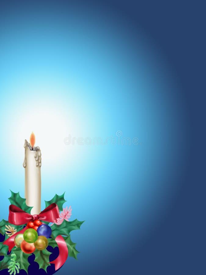 Vela de la Navidad ilustración del vector