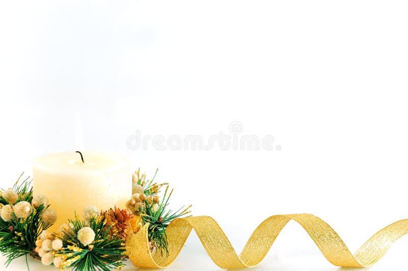 Download Vela de la Navidad foto de archivo. Imagen de estacional - 7151370