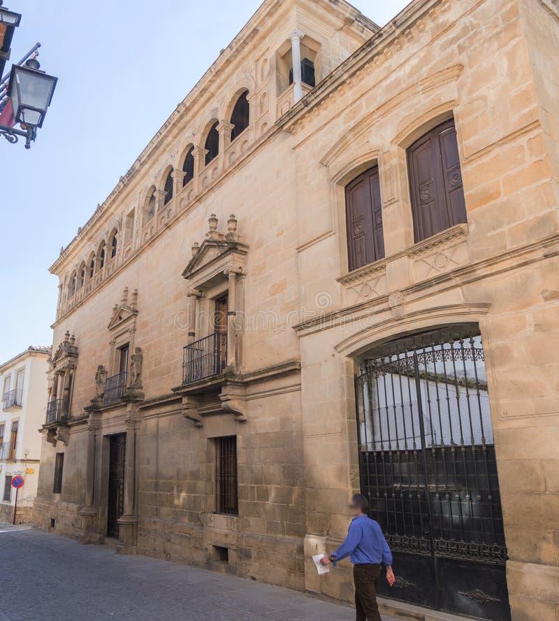 Vela De Los Cobos Pałac, Ubeda, Hiszpania fotografia stock
