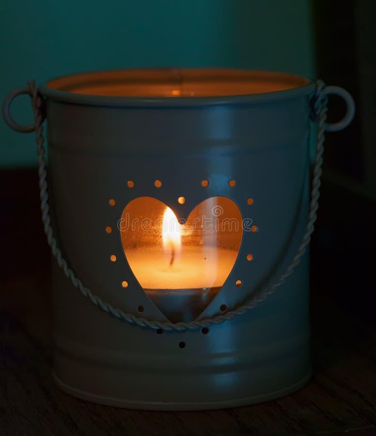 Vela del corazón imágenes de archivo libres de regalías