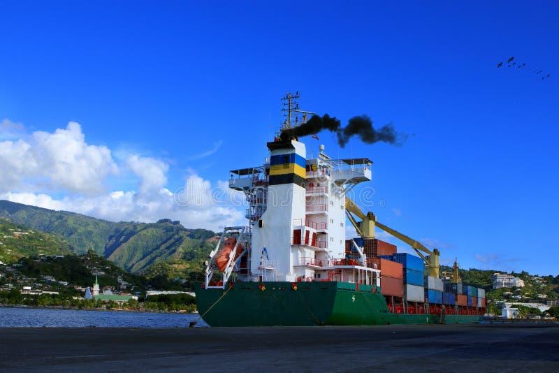 Vela do ajuste do navio fotografia de stock
