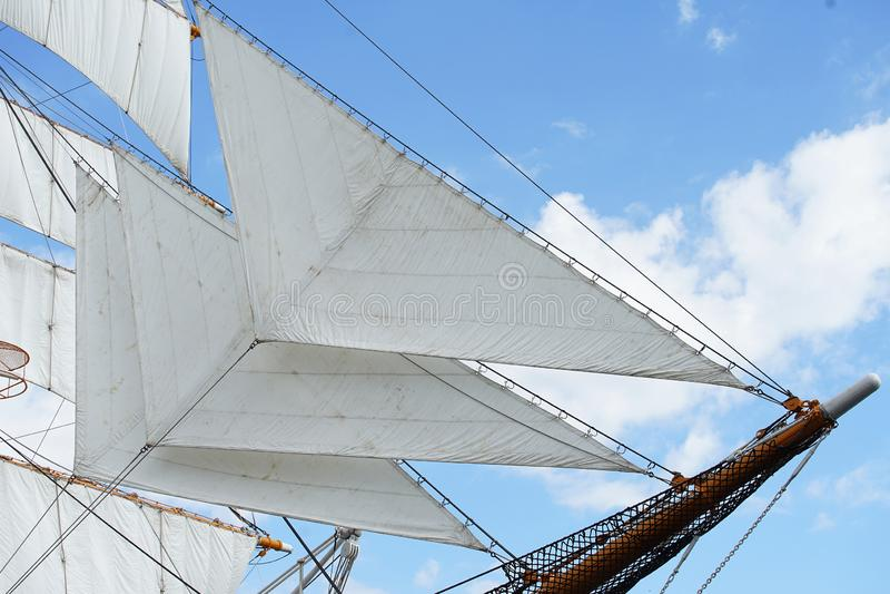 Vela do barco de navigação fotos de stock