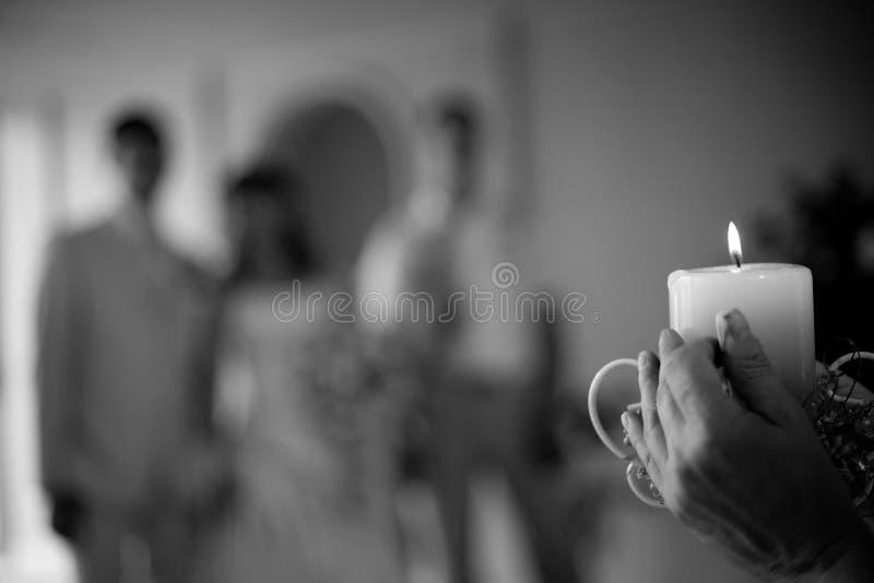Vela do casamento fotos de stock royalty free