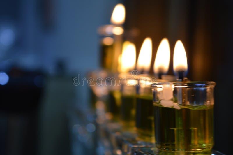 Vela do Hanukkah fotografia de stock royalty free