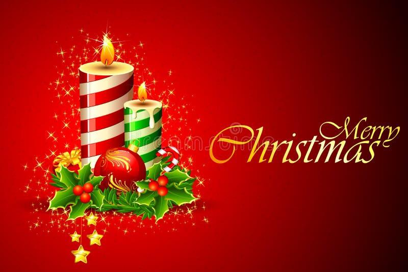 Vela do Natal ilustração stock