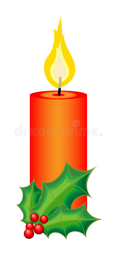 Vela do Natal e do ano novo ilustração royalty free