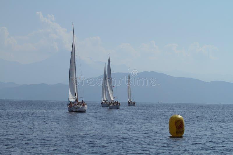 Vela do regatta da navigação & troféu do divertimento em Turquia fotos de stock royalty free