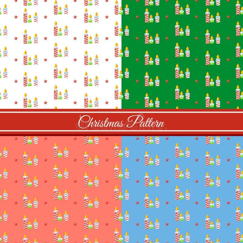 Download Vela Do Teste Padrão Do Natal Ilustração do Vetor - Ilustração de luzes, decoração: 80101132