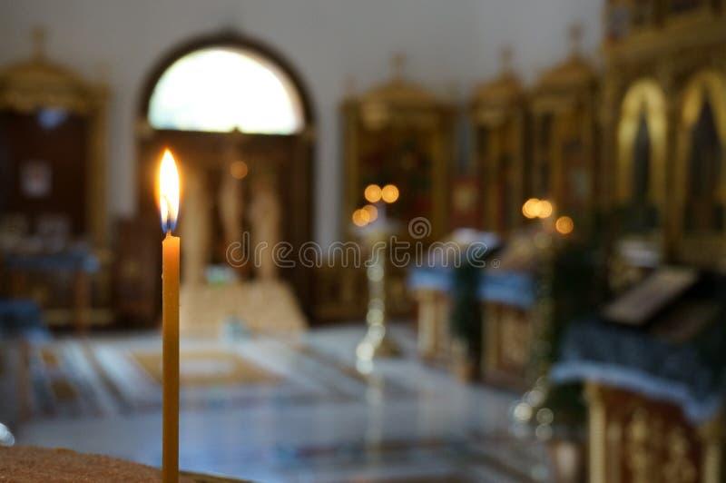 Vela en iglesia imágenes de archivo libres de regalías