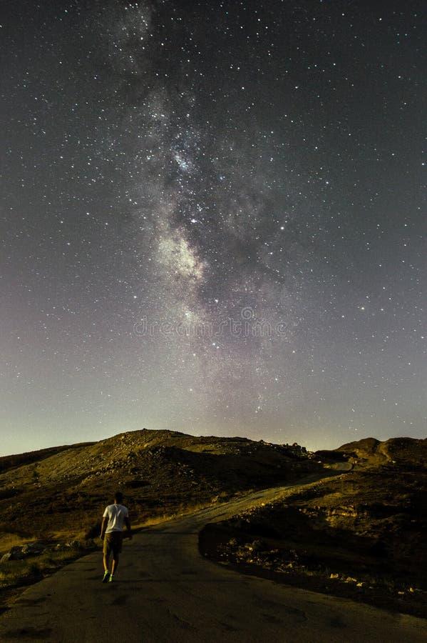 vela fra le stelle immagini stock