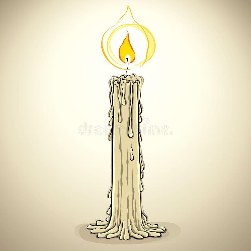 Vela, ilustração do vetor. ilustração royalty free