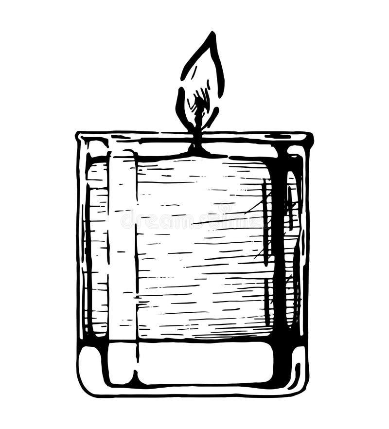 A vela no vidro ilustração do vetor