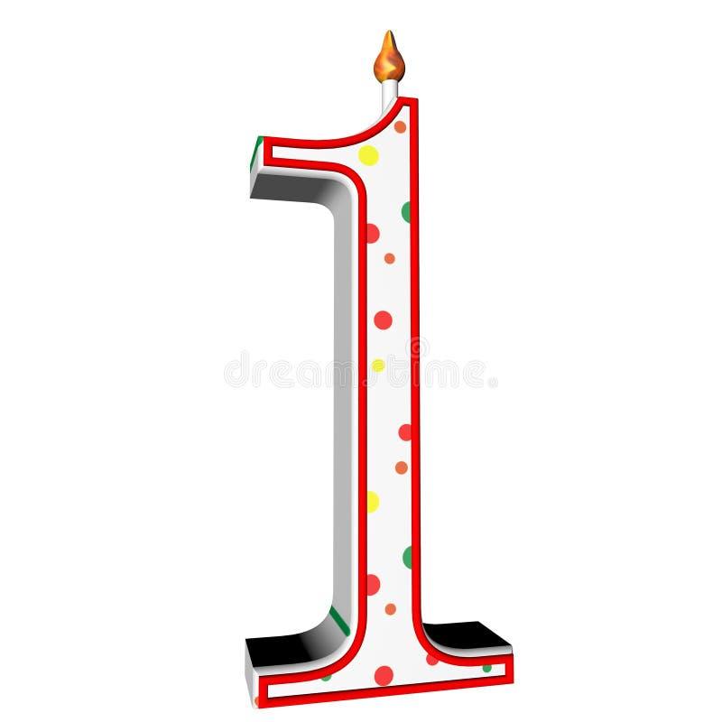 Vela para la torta de cumpleaños libre illustration
