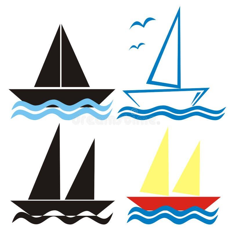 Vela - símbolos ilustração stock