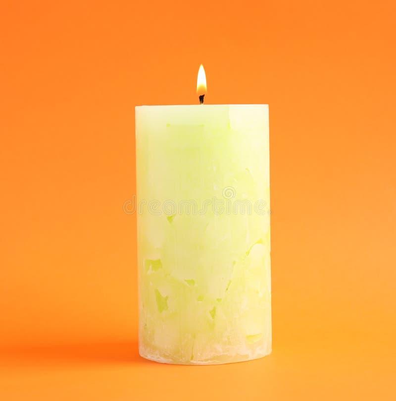 Vela scented da cera Alight fotos de stock royalty free