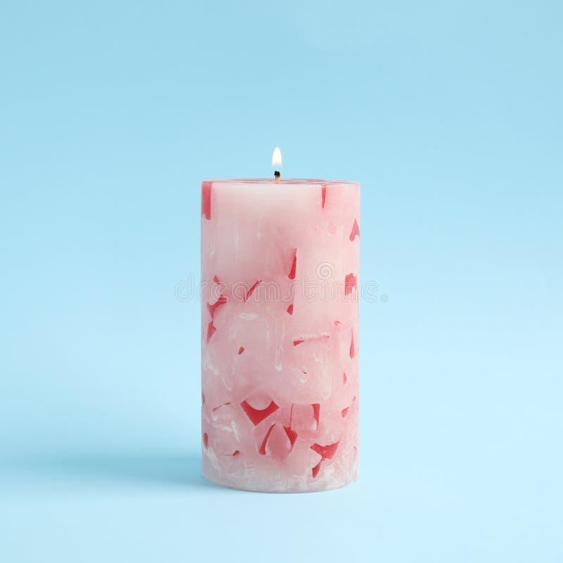 Vela scented da cera Alight imagem de stock