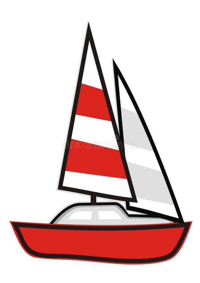 Vela - vermelho ilustração royalty free