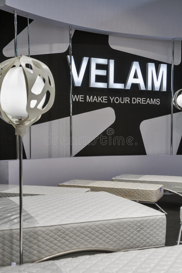 Velam furniture company booth stock image