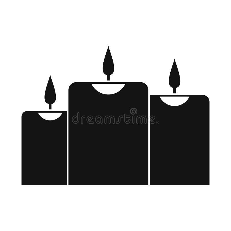 Velas ardentes do ícone ilustração stock