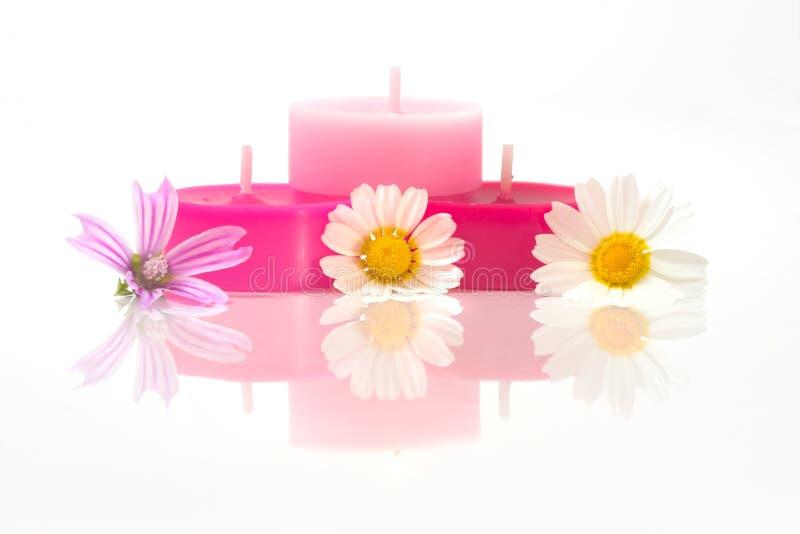 Velas coloridas fotografía de archivo libre de regalías