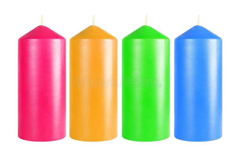 Velas coloridas decorativas imagen de archivo