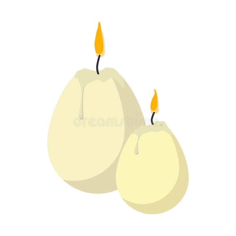 Velas da Páscoa na forma do ícone dos desenhos animados dos ovos ilustração do vetor