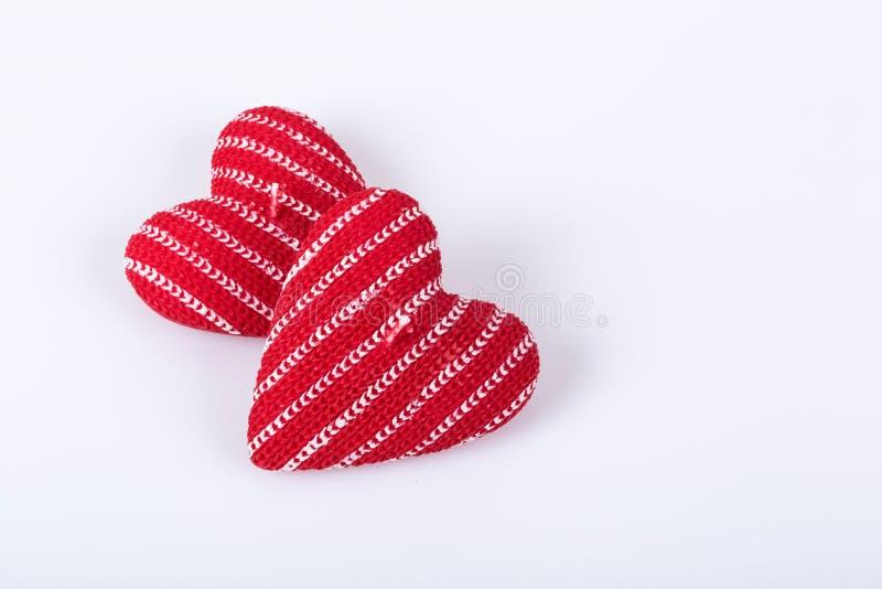 Velas dadas forma coração fotos de stock