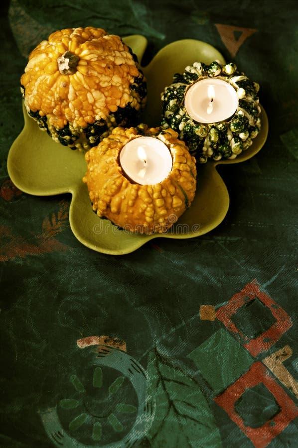 Velas de Halloween imagens de stock royalty free
