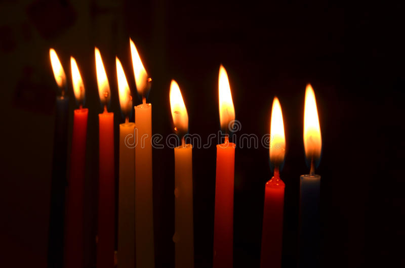 Velas de Hanukah imagem de stock