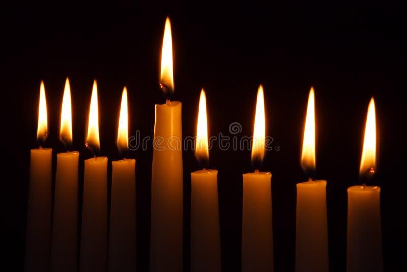 Velas de Hanukkah fotografia de stock royalty free