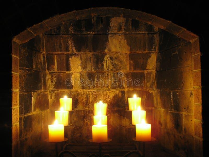 Velas de la chimenea imágenes de archivo libres de regalías
