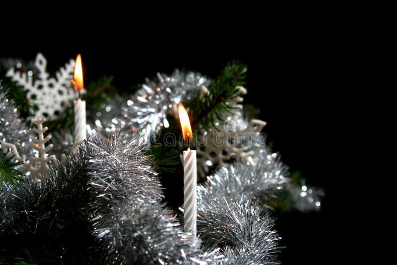 Velas de la Navidad fotos de archivo libres de regalías