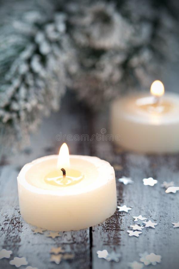 Velas de la Navidad imagen de archivo libre de regalías