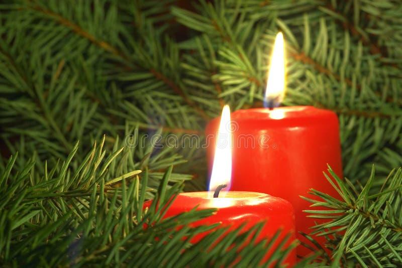 Velas de la Navidad fotos de archivo