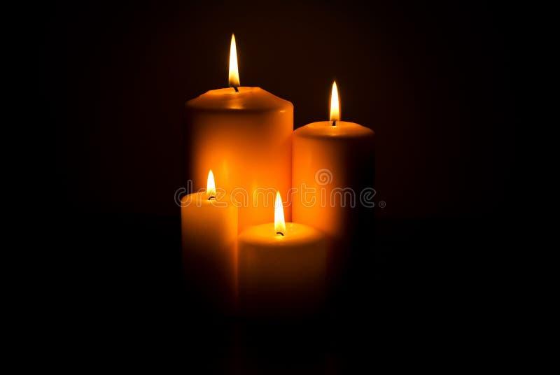 Velas de luces imagen de archivo
