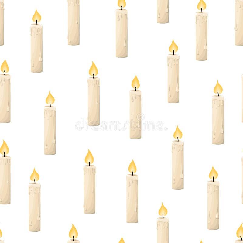 Velas de modelo Ilustración del vector Sistema de velas en estilo plano de la historieta fotos de archivo libres de regalías