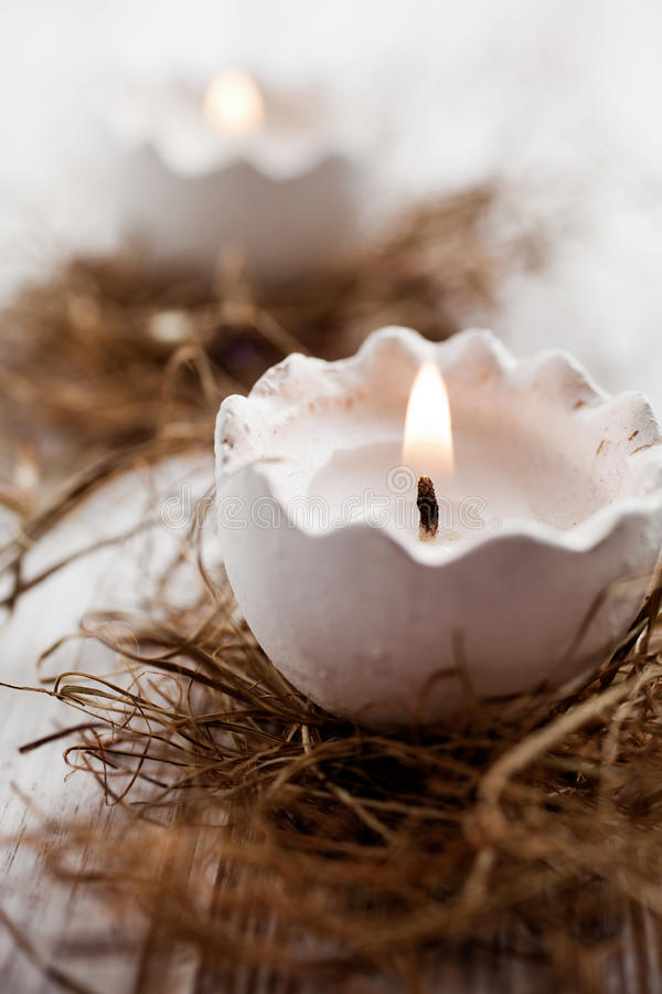 Velas de Pascua fotografía de archivo libre de regalías