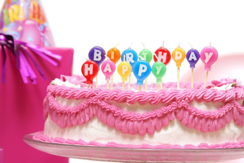 Velas del feliz cumpleaños foto de archivo libre de regalías