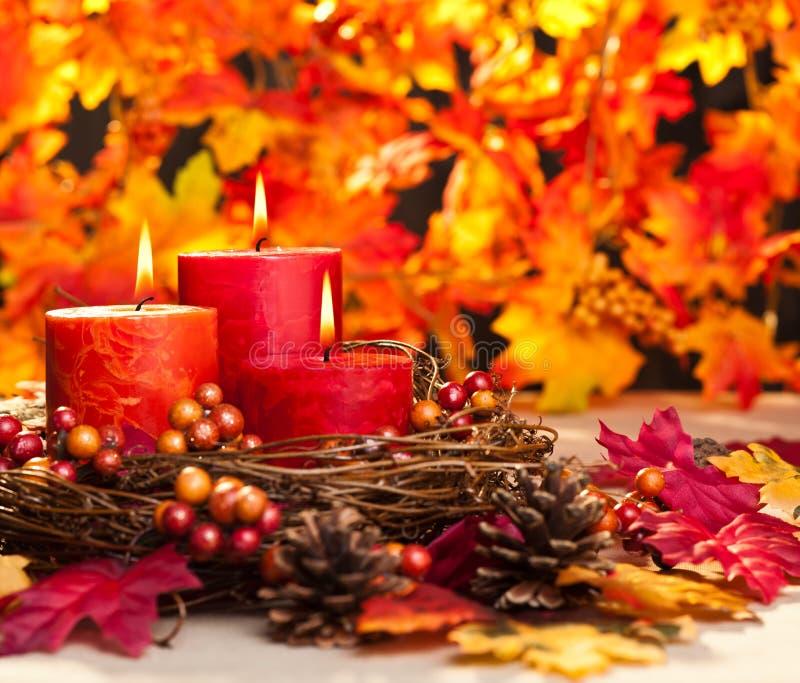 Velas del otoño imágenes de archivo libres de regalías