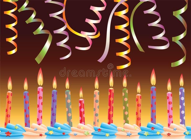 Velas do aniversário ilustração stock