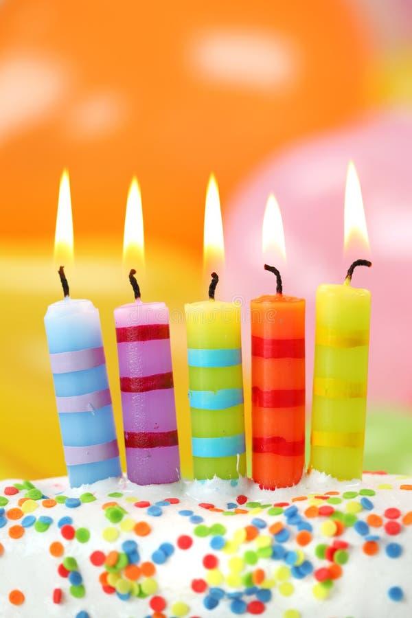 Velas do aniversário imagens de stock