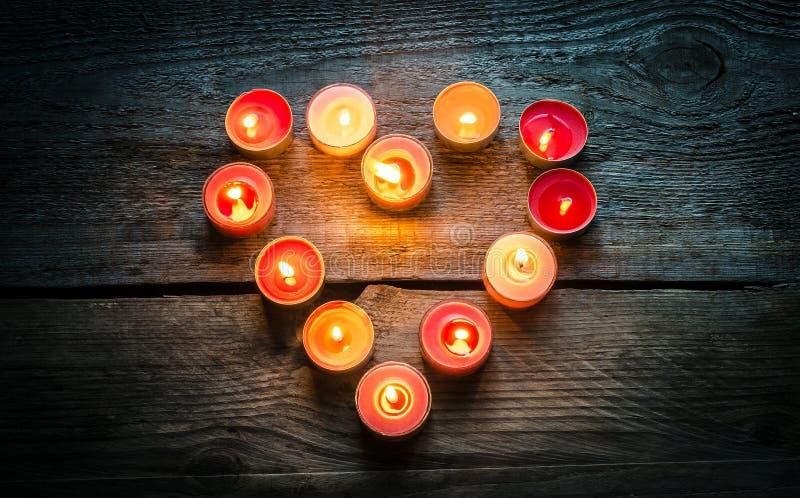 Velas do dia de Valentim do St imagem de stock royalty free
