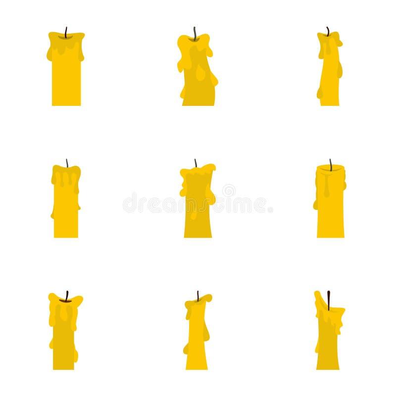Velas do grupo do ícone, estilo liso ilustração do vetor