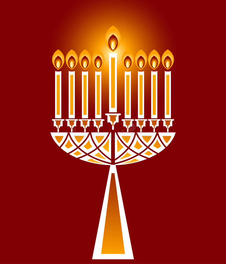 Velas do Hanukkah ilustração royalty free